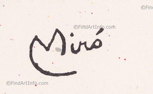 clip stock Artist s signatures mir. Drawing signature joan miro
