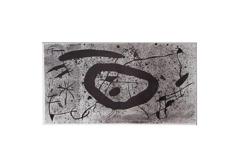 graphic freeuse library Original lithograph essencies de. Drawing signature joan miro