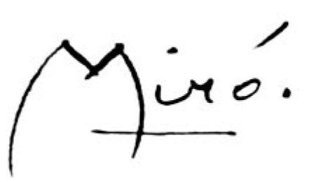 png freeuse download Juan mir al r. Drawing signature joan miro