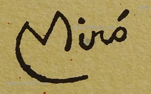 clip stock Drawing signature joan miro. Artist s signatures mir