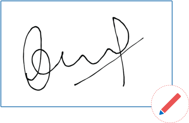 free stock Drawing signatures fictitious autograph. Signature control for asp