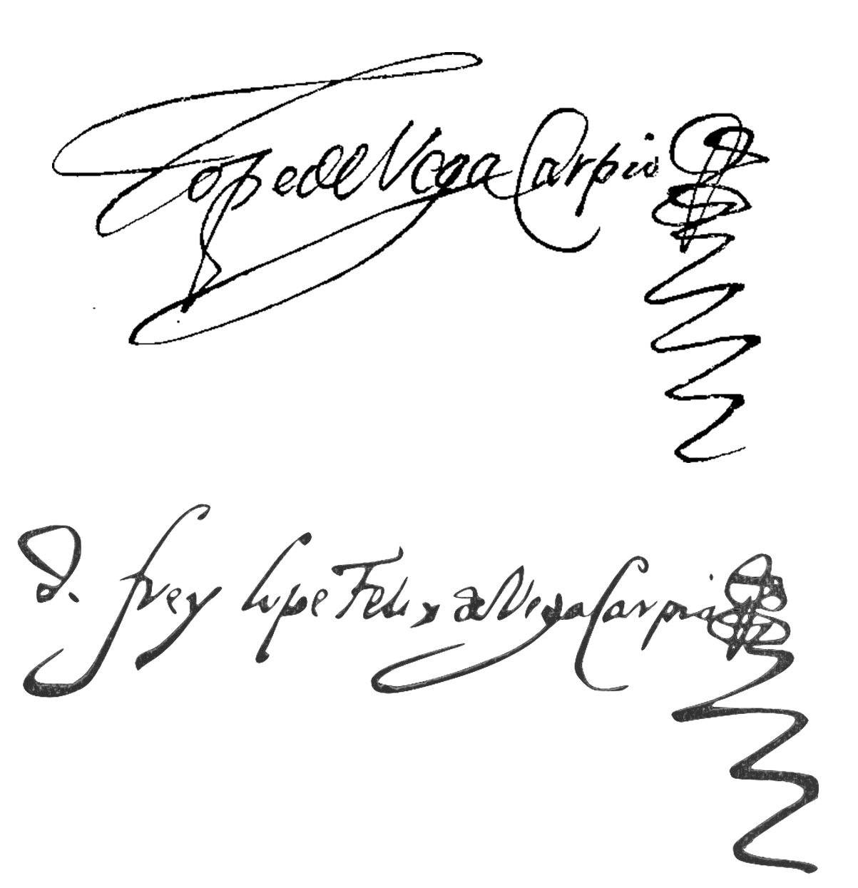 picture royalty free Drawing signatures firmas. File de lope vega