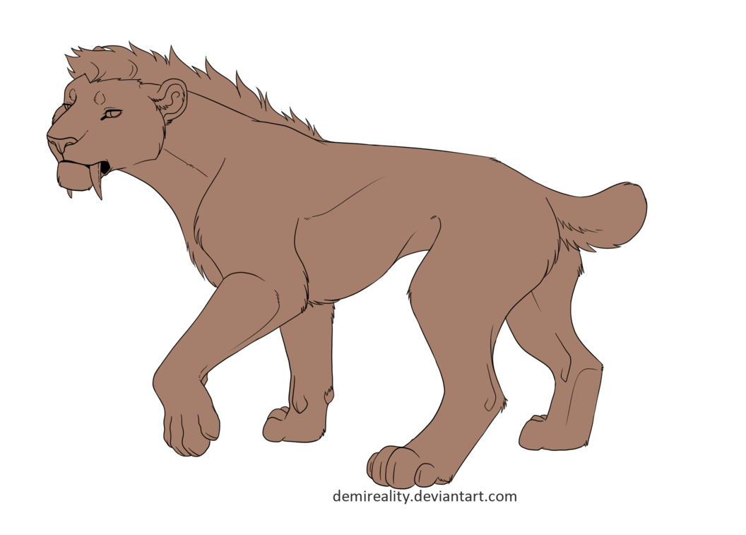 picture free stock Free lineart png and. Drawing signatures sabertooth