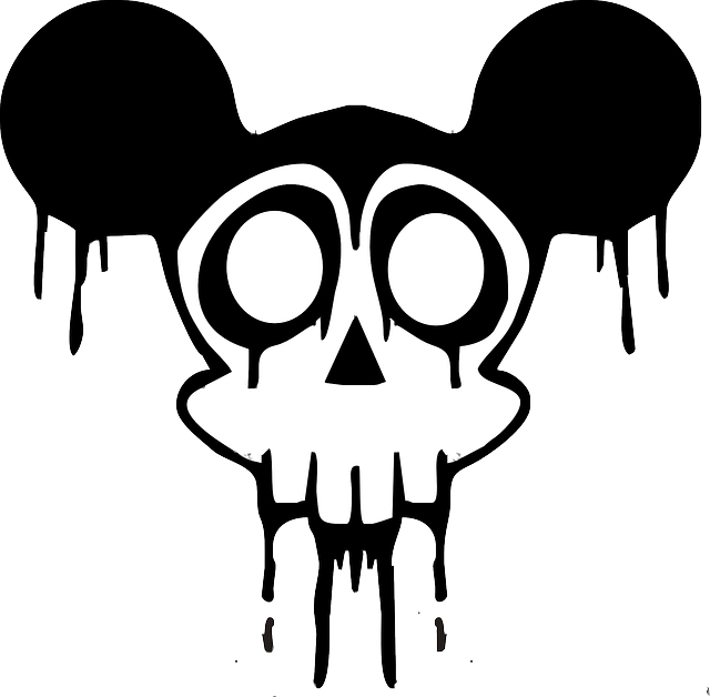 picture royalty free library Skull cartoon public domain. Drawing silhouette black and white
