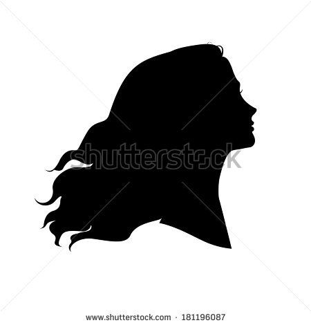 graphic free Drawing silhouette head. Woman hair buscar con