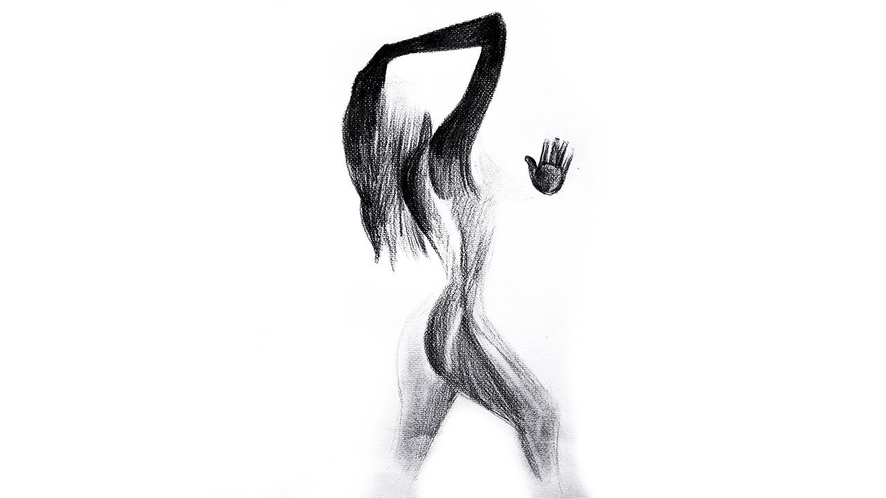 jpg free Drawing silhouette pencil. Woman x px art