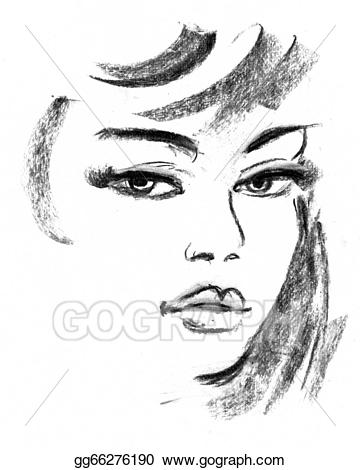 clip art freeuse Drawing silhouette pencil. Drawings female portrait of