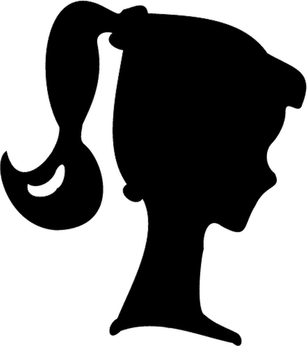 freeuse stock Drawing silhouette printable. Barbie party clip art