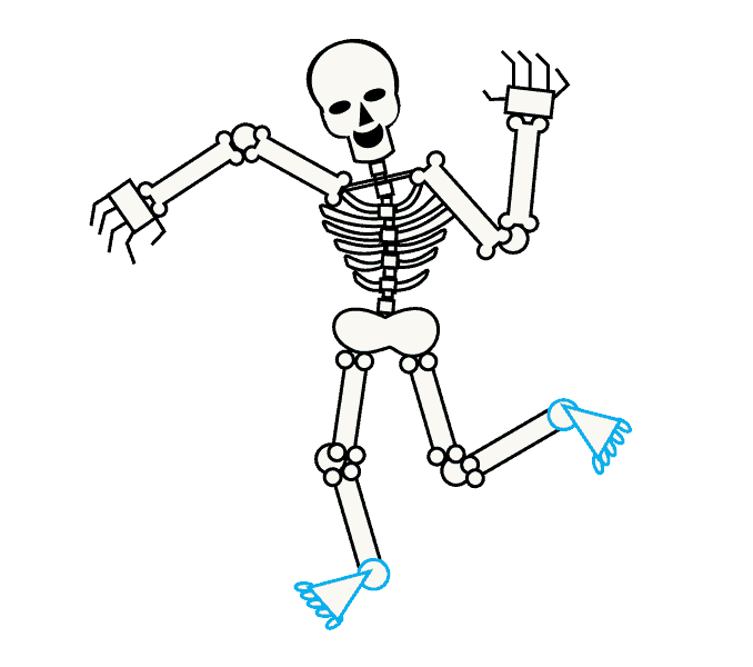 clip art library library How to Draw a Skeleton
