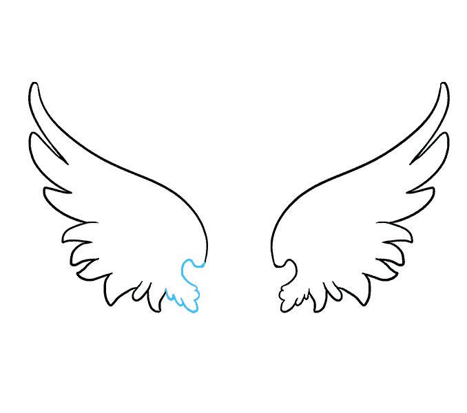 picture library download How to draw angel. Drawing something wing