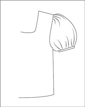 clipart download Three ways to draft a puffed sleeves pattern