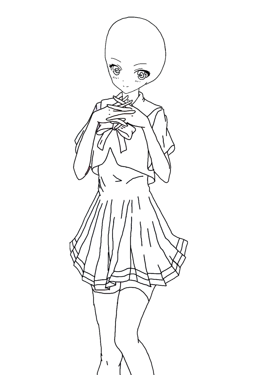 graphic royalty free library Girl dress at getdrawings. Drawing outfits anime