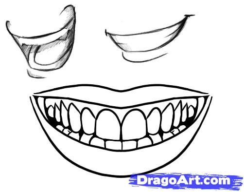 jpg free library Drawing tooth face. How to draw a