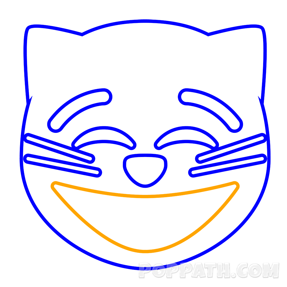 clip art transparent library How To Draw A Grinning Cat Emoji