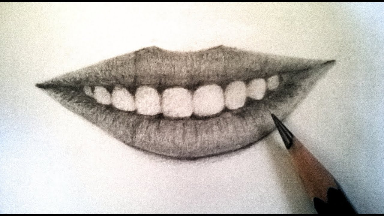 jpg free download Drawing tooth pencil. How to draw realistic