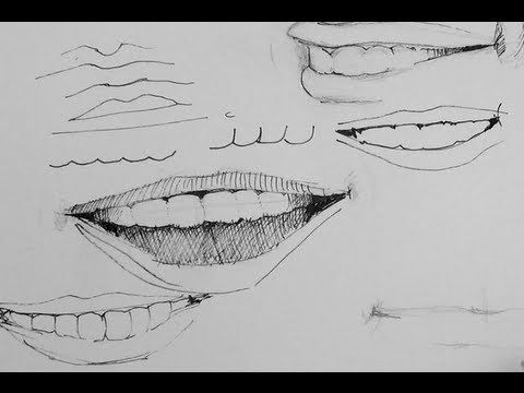 clipart black and white Drawing smiles black and white.  pen ink tutorial