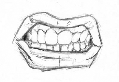 clipart royalty free How to draw an. Drawing tooth face