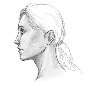 banner black and white stock Collection of free ears. Drawing portrait ear