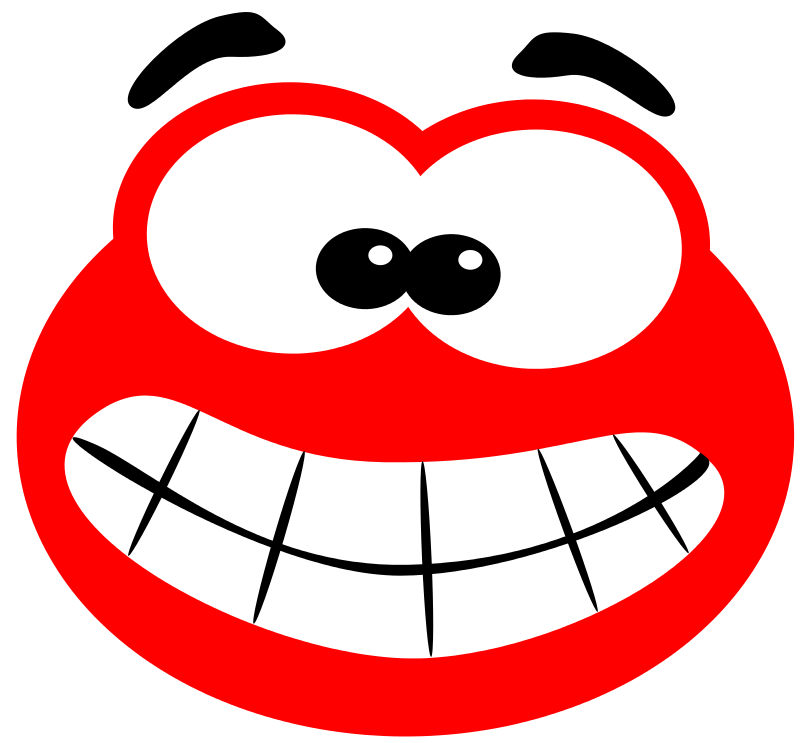 banner transparent library Smiling clipart red.  smile grin for