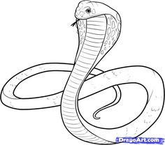 clip freeuse  best images art. Drawing snake poisonous