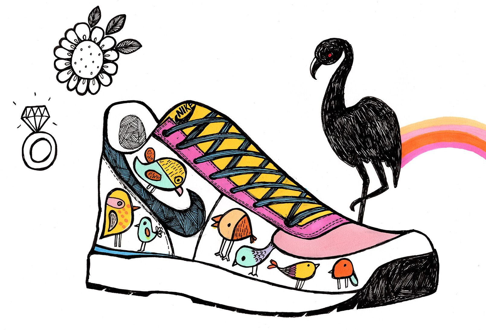 png free library Drawing sneakers cute. Illustration doodlesofinstagram doodle nike