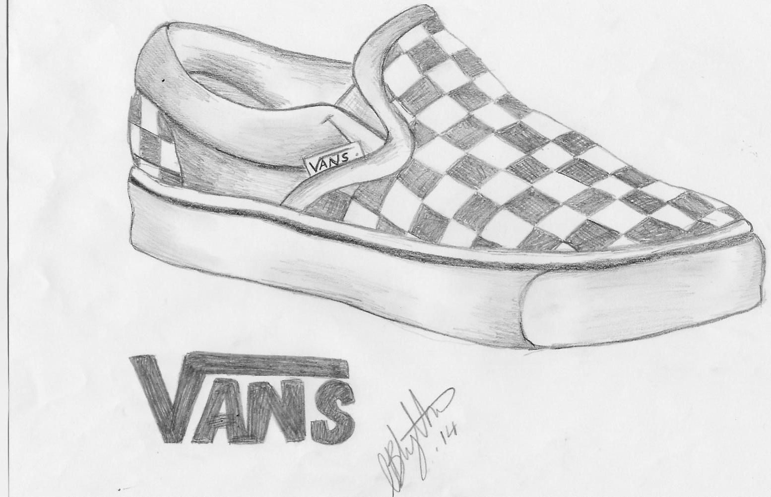 clip free library Drawing sneakers pencil. Drawings of vans shoes
