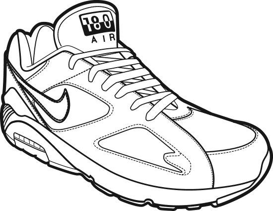 svg royalty free library Collection of free shoes. Drawing sneakers perspective