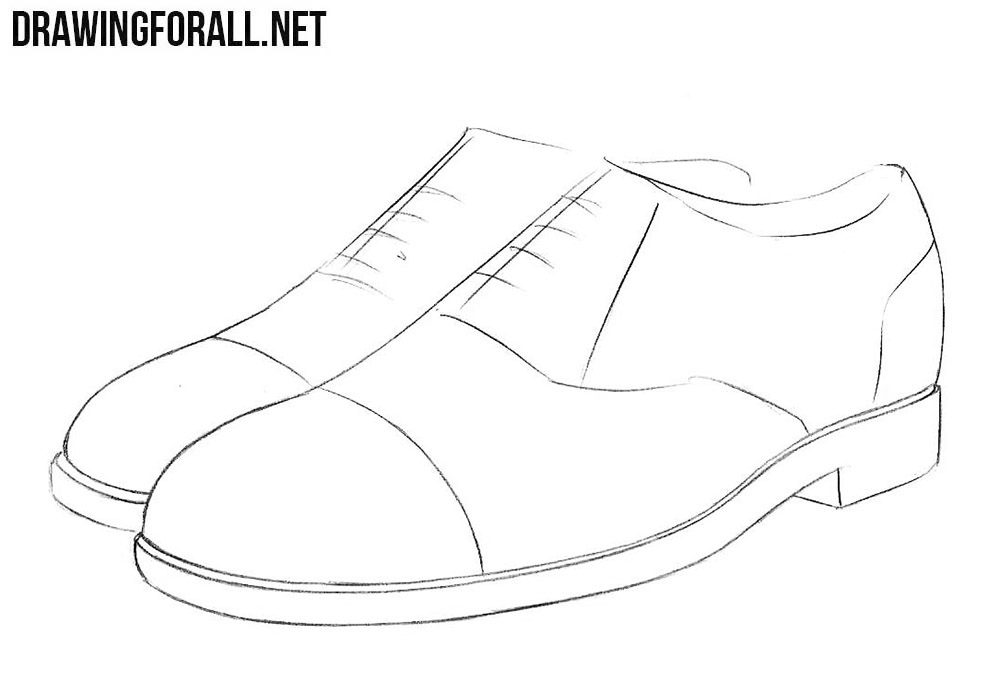 clipart library download Drawing sneakers sandal. How to draw shoes