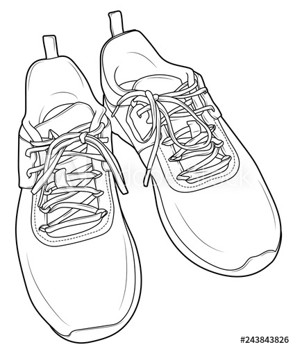 clipart transparent stock Drawing sneakers sandal. Top view flip flop