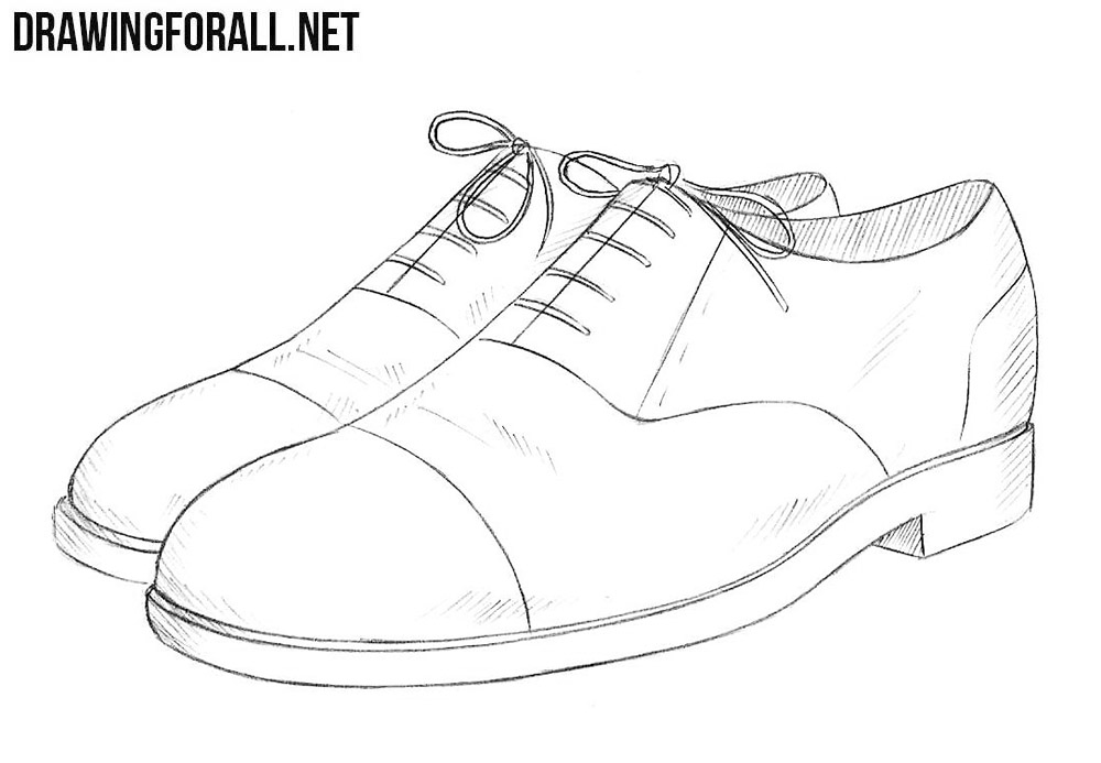 banner freeuse stock Drawing sneakers sapatos. How to draw shoes