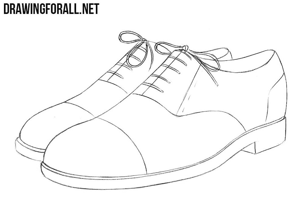 banner freeuse stock How to draw shoes. Drawing sneakers sapatos