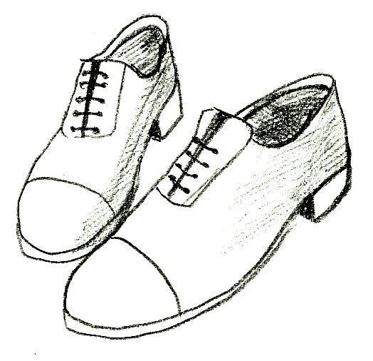 clipart royalty free library Draw shoes and other. Drawing sneakers sapatos