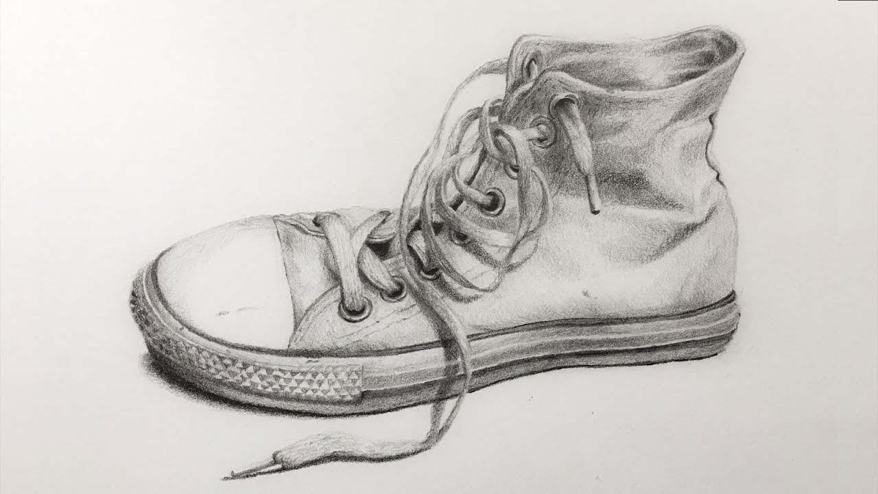 vector library download Drawing sneakers sketch. How to draw an