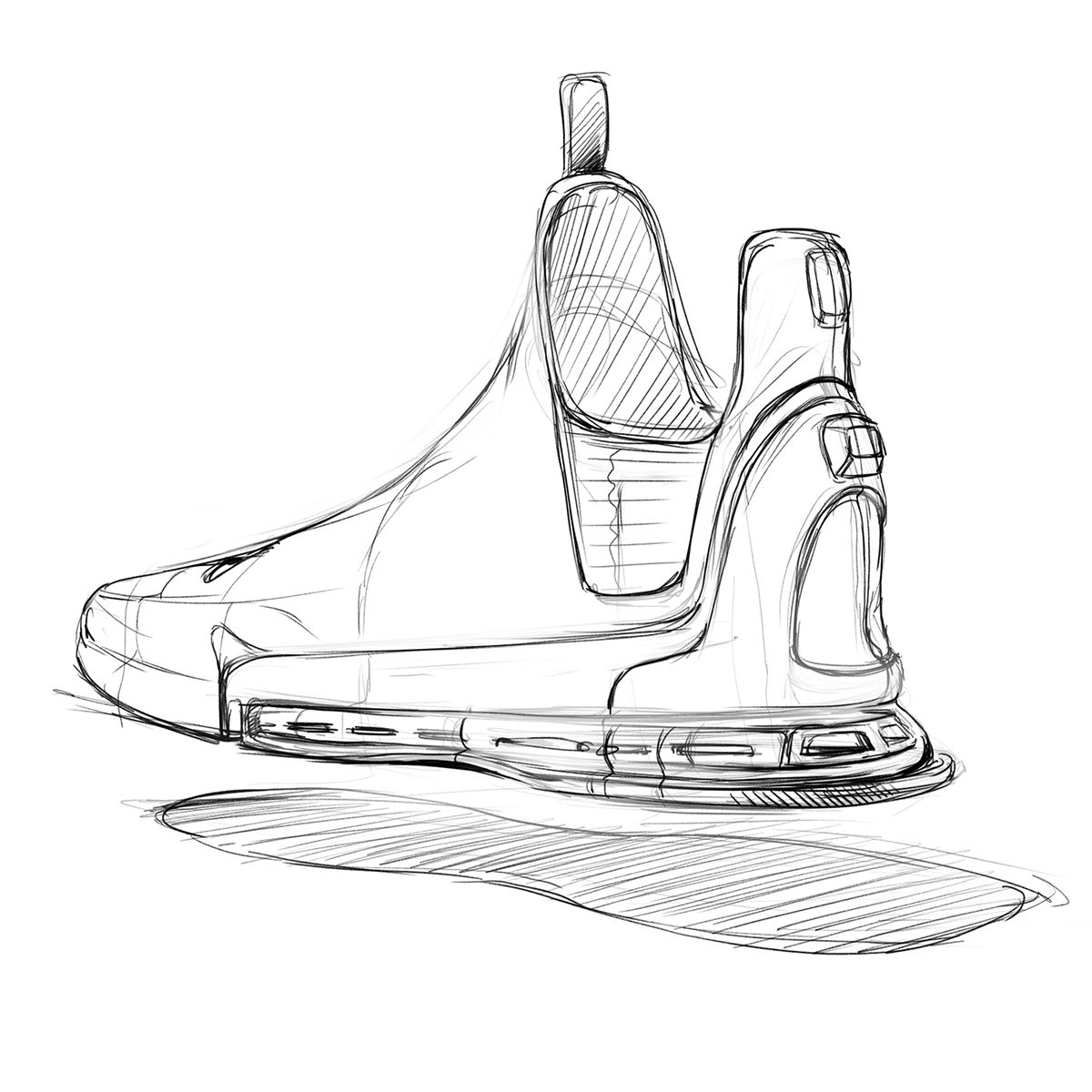 clip art download Drawing sneakers sketch. Some doodles on behance