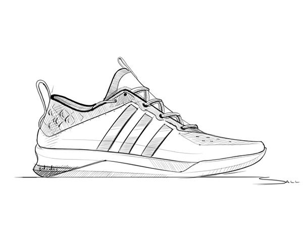 graphic black and white library Drawing sneakers sketch. Pin by haoyang yu