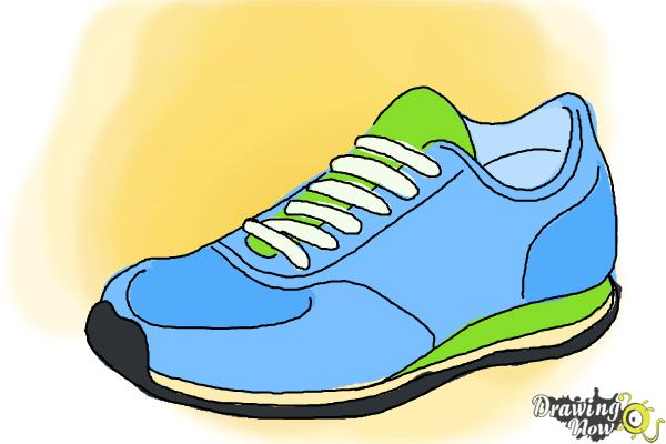 vector library library How to draw running. Drawing sneakers sport shoe