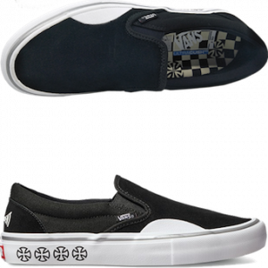 vector black and white Double take x independent. Drawing sneakers vans old skool