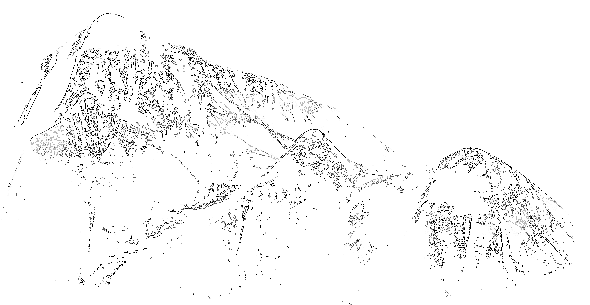graphic black and white Drawing snow. Line art sketch others