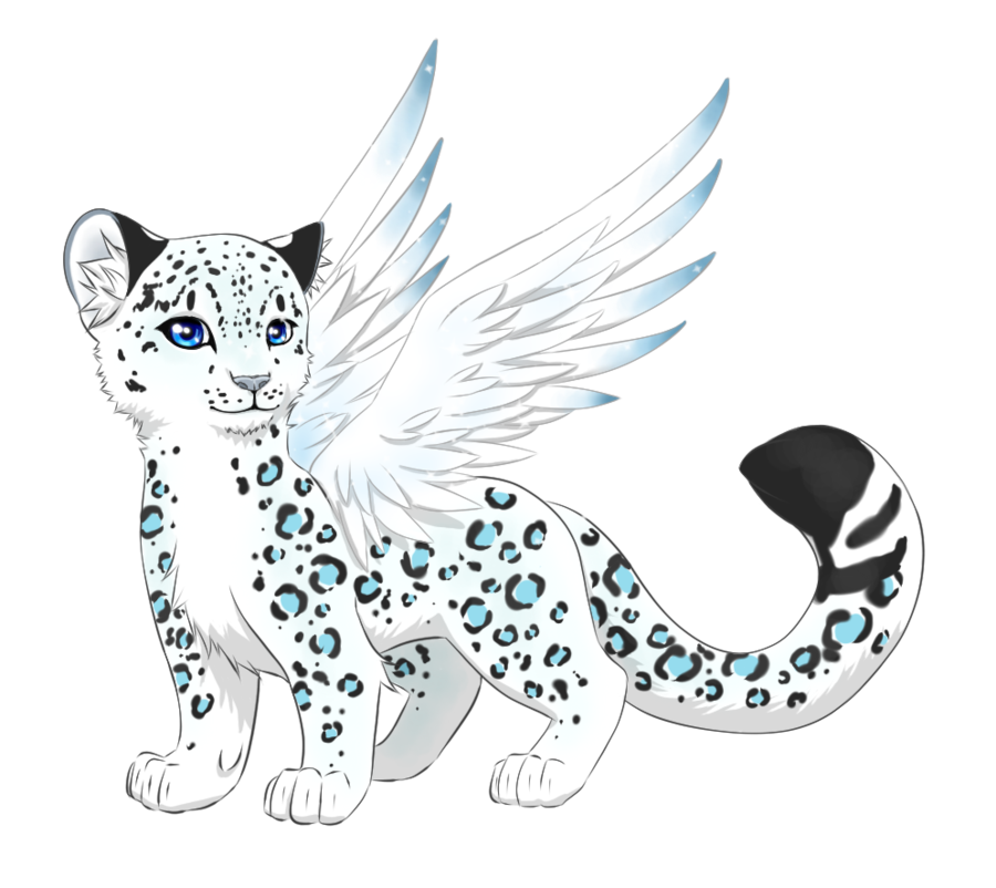 svg library Drawing snow leopard. Blue by catastrapostrophe on