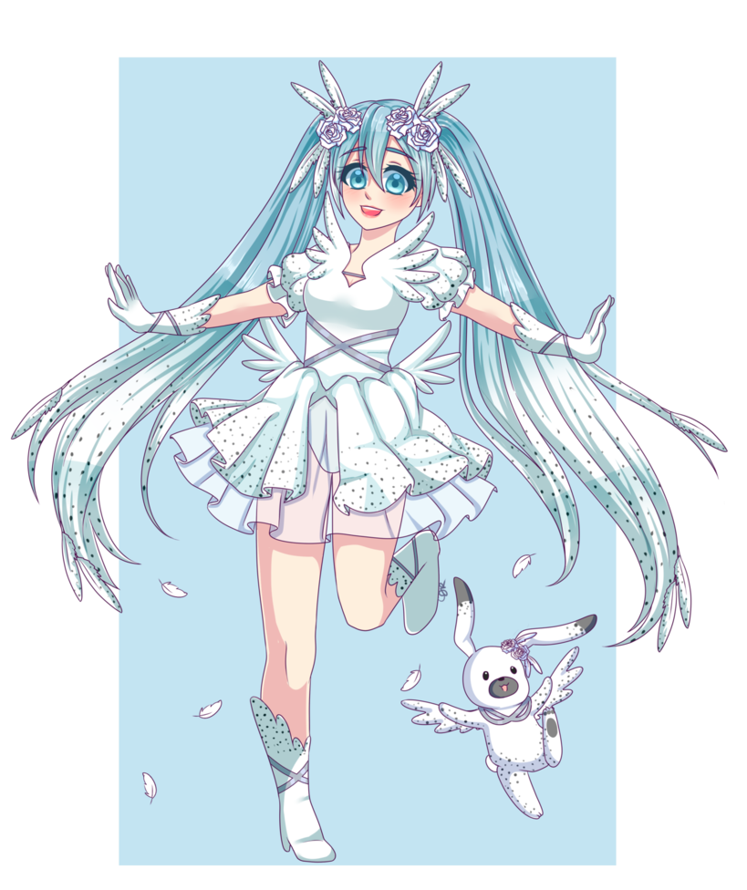 clip art free stock Entry extra illustration by. Drawing snow miku