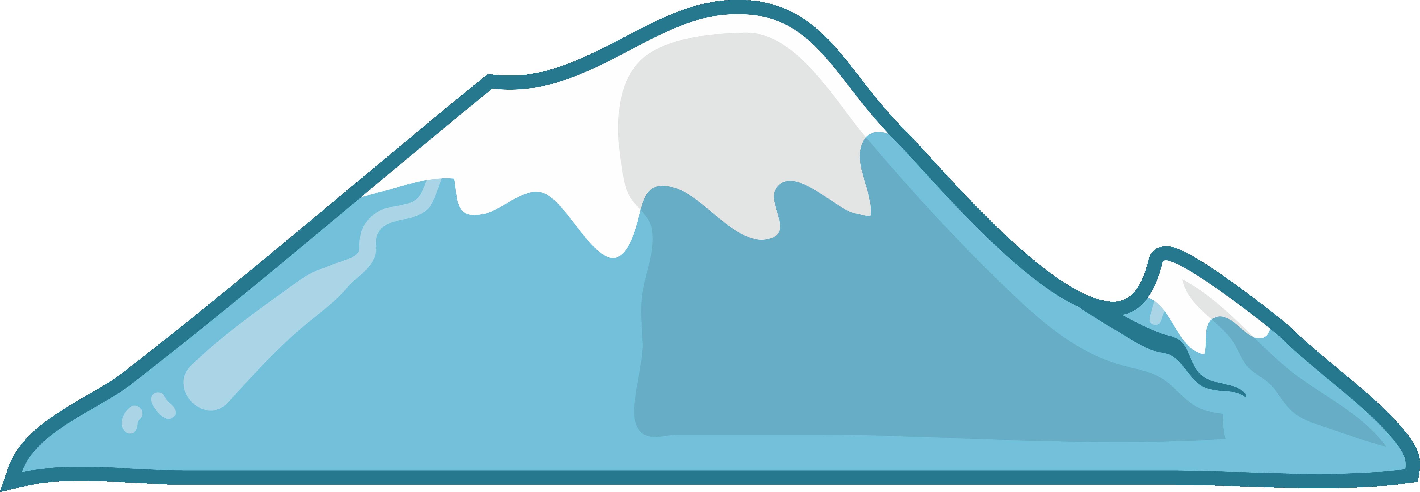 clip transparent download Drawing snow mountain. Cartoon blue top transprent