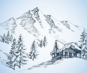 clipart royalty free stock At paintingvalley com explore. Drawing snow mountain