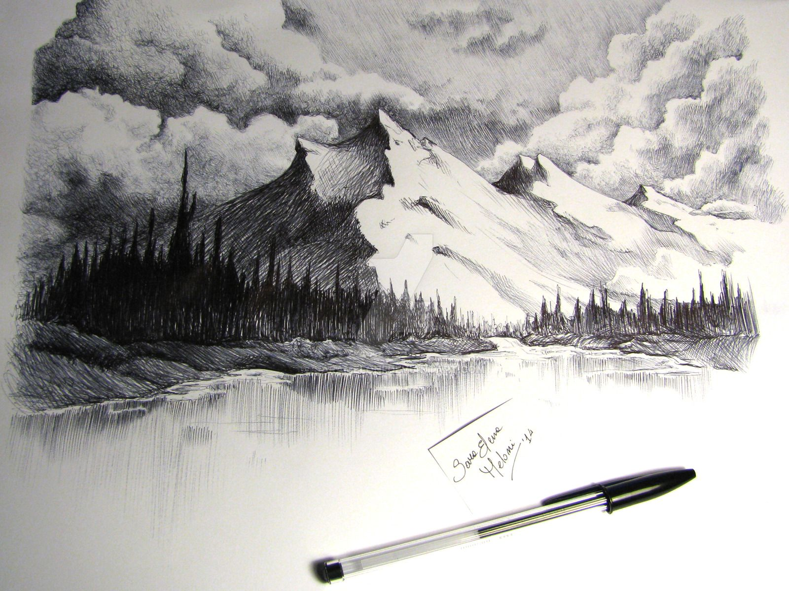 royalty free download Drawing snow mountain. Image result for how