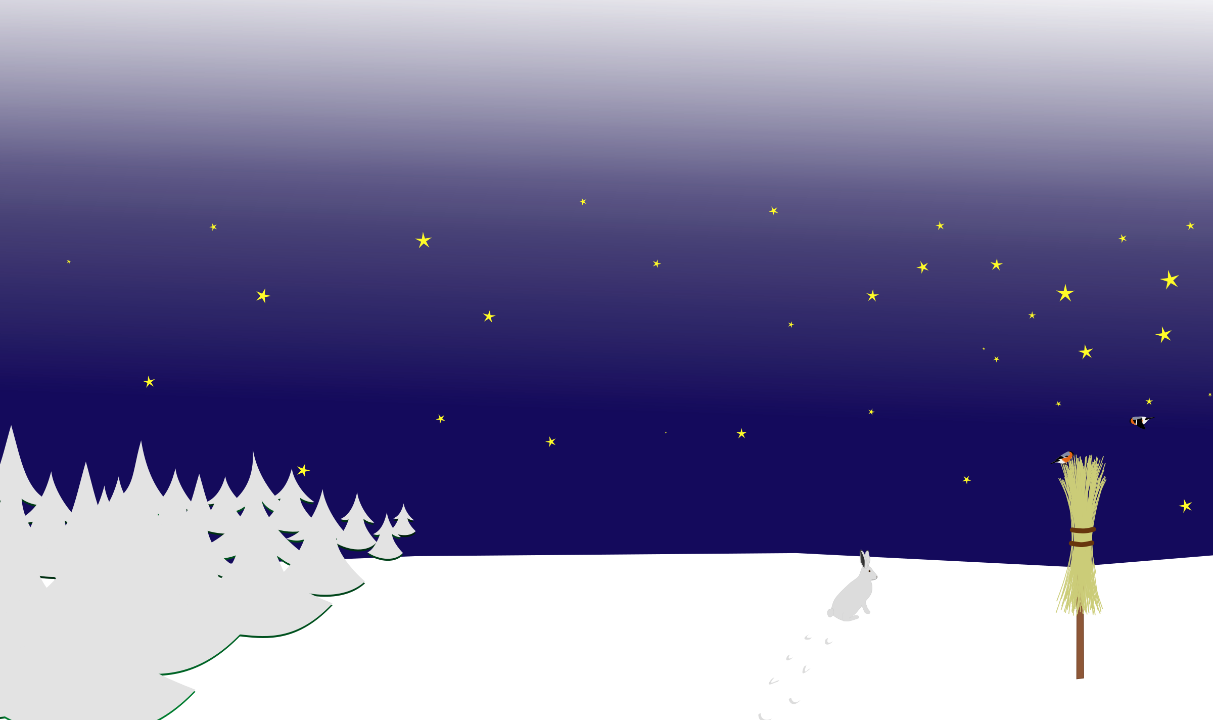 clipart free stock Drawing snow scene. Winter night icons png