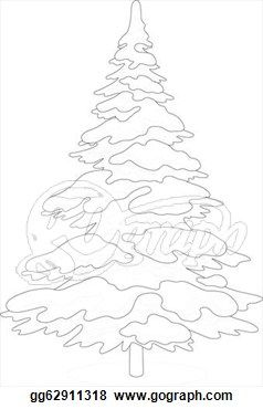svg library stock Pin on christmas winter. Drawing snow tree