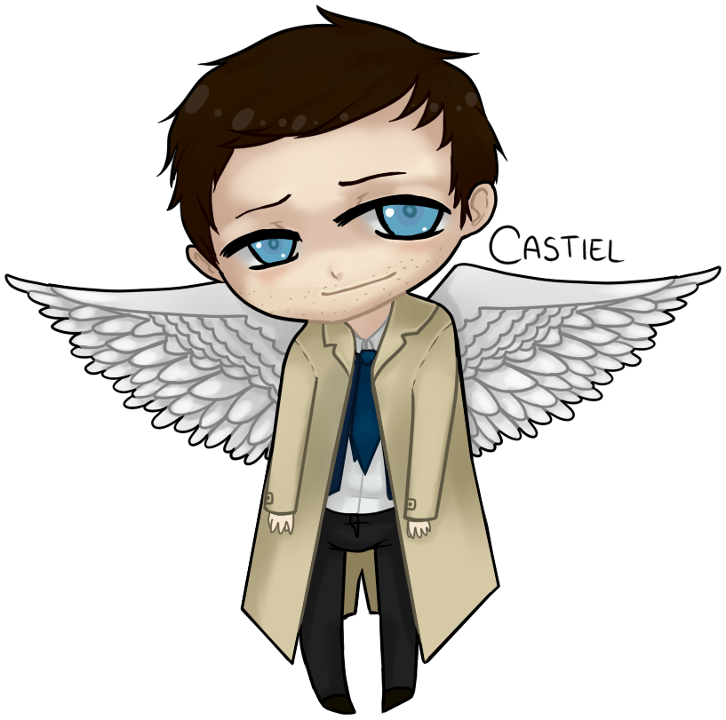clip art library download Little by haku ellie. Drawing something castiel
