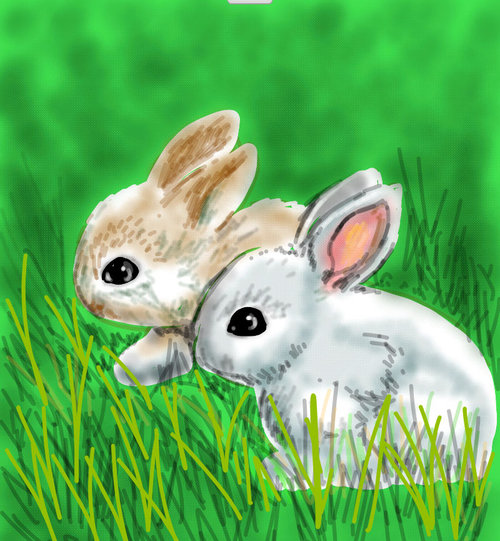 clip art download Drawing something nature. Bunny drawings the best