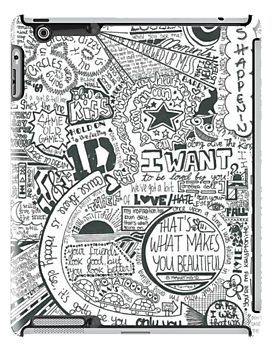 graphic black and white Drawing song direction. Iphone cases lyrics one