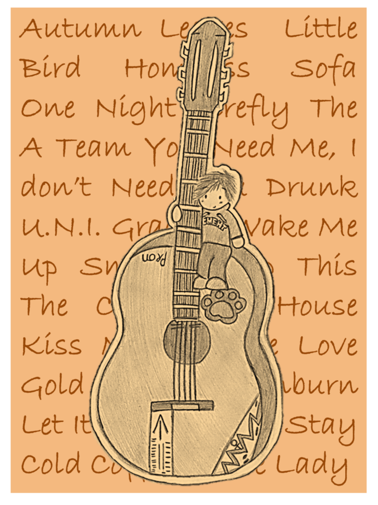 svg stock Drawing song ed sheeran. A tribute to by