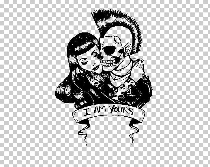 svg black and white stock Punk rock love clipart. Drawing song png